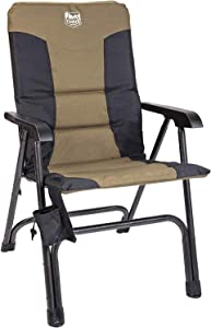 TIMBER RIDGE High Back Folding Camping Chair for Outdoor Garden Patio Lawn, Support up to 300 lbs