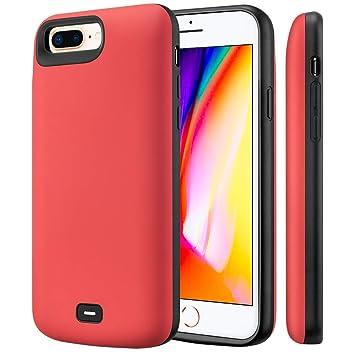 Fey-EU Funda Batería para iPhone 6 Plus/6S Plus/7 Plus/8 Plus, 5500mAh Funda Cargador Portatil Batería Externa Ultra Carcasa Batería Recargable Power ...