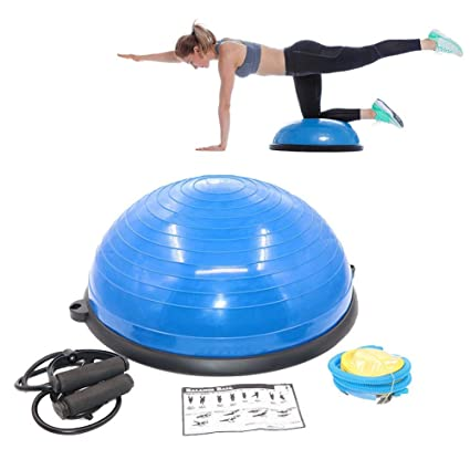 Amazon.com : CAJOLG Exercise Ball Yoga Half Ball Balance ...