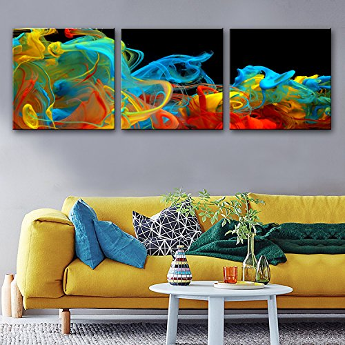 bihua Stretched Canvas Art Color Smoke Wonders Decoration Painting