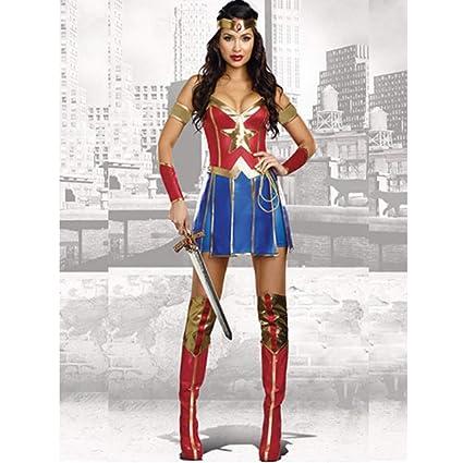 online in vendita pensieri su gamma esclusiva ZSNB Abito Rosso Sexy Adulti SuperGirl con Stivali Custodia Wonder ...