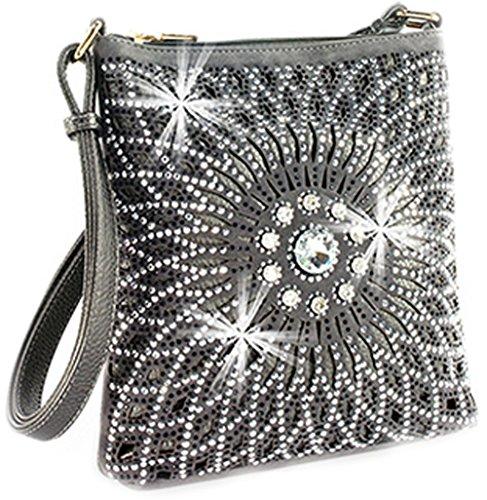 Cross Bag Sparkle Zzfab Bright Starburst All Body Pewter xqOUPIwYU