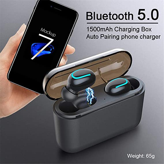 CRZJ Auriculares Bluetooth Inalámbricos 5.0 Auriculares ...