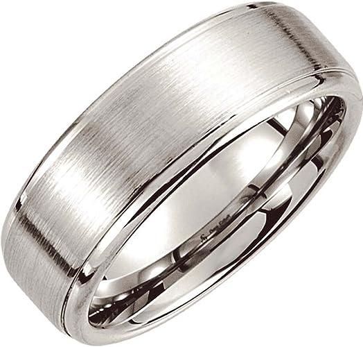 Size 9 Dura Cobalt Wedding Band Ring with Satin Finish and Ridges