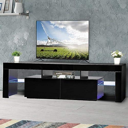 VINGLI Modern Black TV Stand