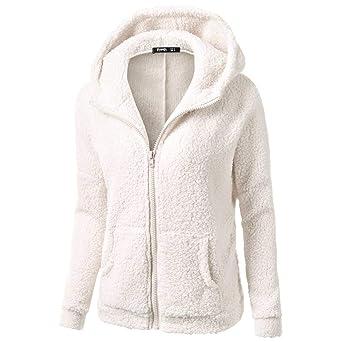 Sudadera para mujer moda Otoño manga larga,Sonnena Abrigo con capucha mujer cremallera de lana