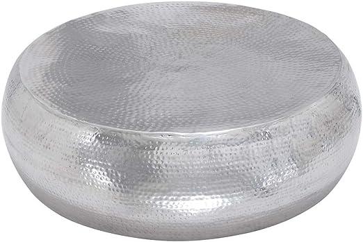 Amazon Com Deco 79 23913 Round Hammered Aluminum Metallic Silver