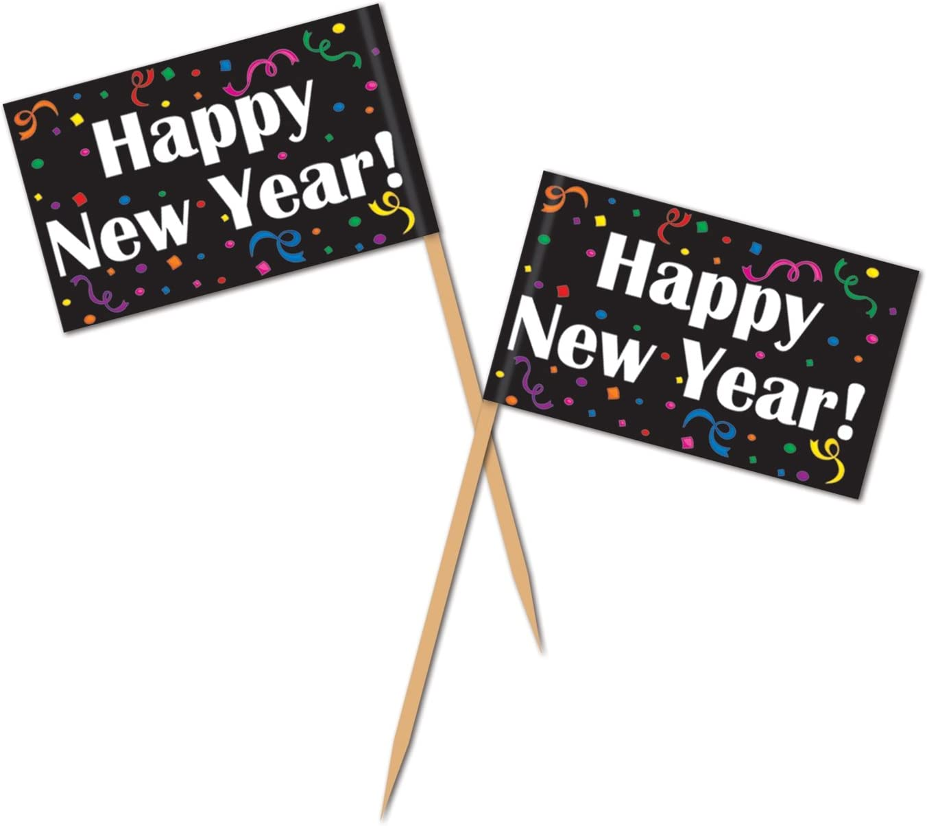 Happy New Year Picks Party Accessory (1 count) (50/Pkg)