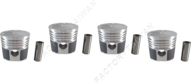 for Mitsubishi K4D x4 PCS +0.50mm MM436618 Factorytaiwan Pistons Set Oversize 73mm