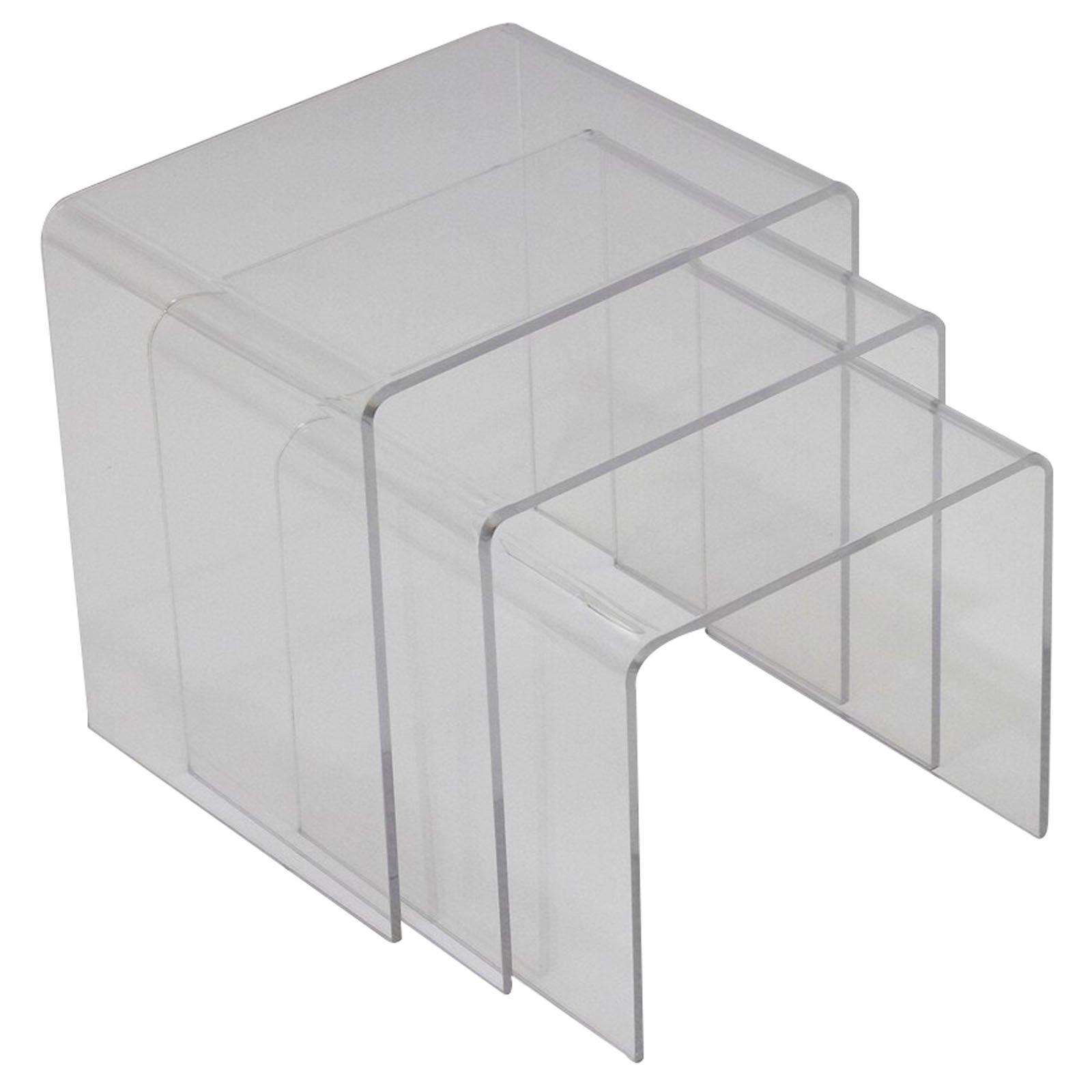 Modway Casper Modern Acrylic Nesting Tables, 3-Piece Set by Modway