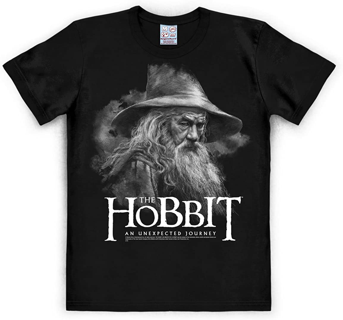 Logoshirt Camiseta Gandalf - Camiseta El Hobbit: Un Viaje Inesperado - The Hobbit: An Unexpected Journey - Camiseta con Cuello Redondo Negro - Diseño Original con Licencia: Amazon.es: Ropa y accesorios