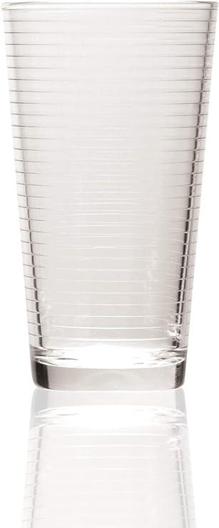 Un Barril Teoría Beber Vasos, Juego de 4, 17 oz, transparente: Amazon.es: Hogar