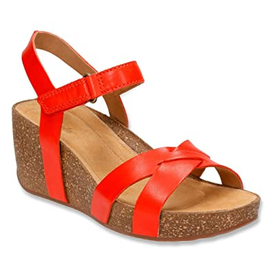 Clarks Temira Compass Sandals Color: Orange