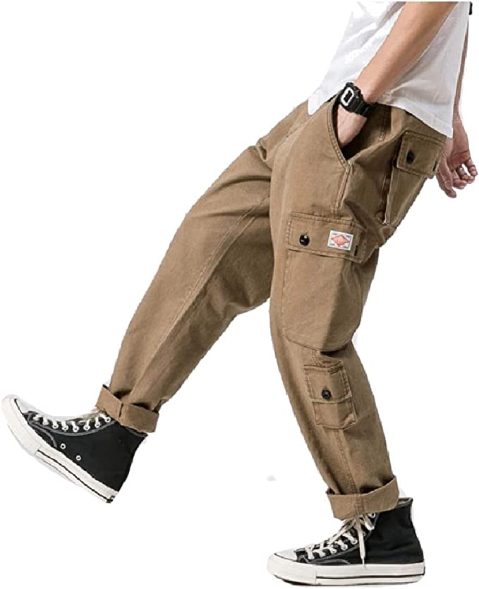 VITryst Men's Classic Relaxed-Fit Relaxed Basic Cotton Fashion Cargo Work Pants