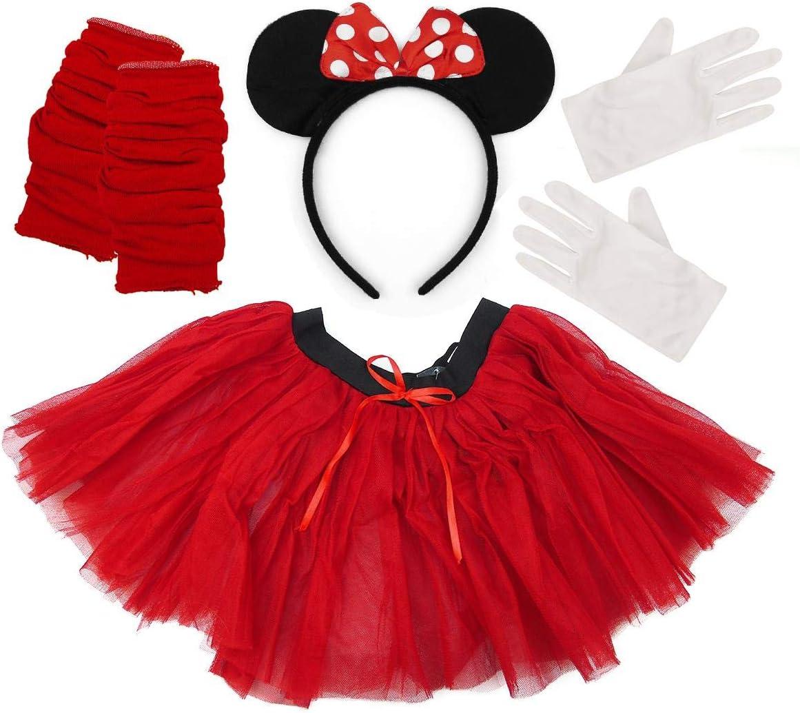 Disfraz de Minnie Mouse de 4 piezas para mujer: Amazon.es ...