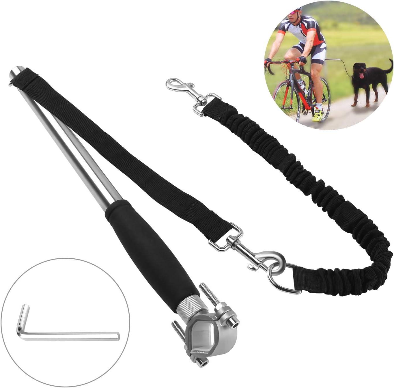 Correa de Bicicleta para Perros - Correa de Manos Libres de Ejercicio de Bicicleta para Mascotas - Acero Inoxidable Ejercitador de Perros de Servicio Pesado con Amortiguación de Muelles