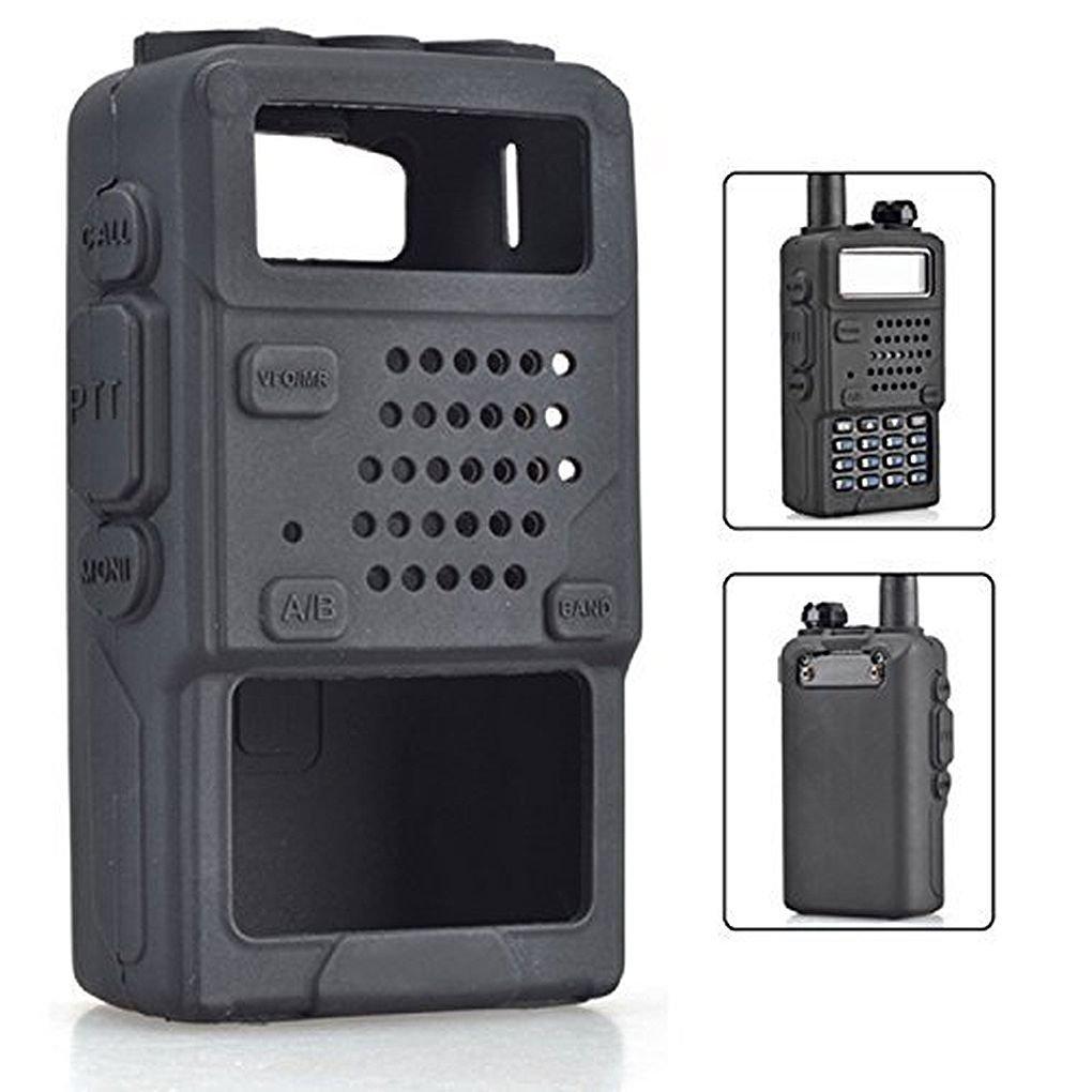 Kongnijiwa Funda de Silicona Protectora Suave Bolsa de Baofeng UV-5R UV-5RA UV-5R Plus Radio walkie Talkie: Amazon.es: Hogar