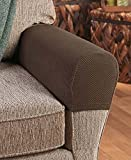 cs go trade - Set of 2 Stretch Armrest Covers (Chocolate)