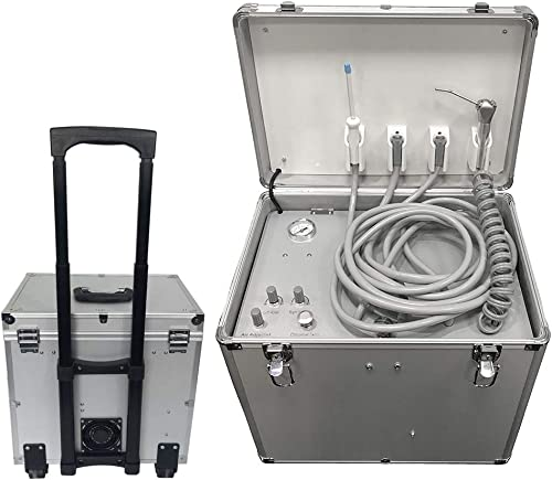 Mobile Portable Rolling Case Delivery Unit Three Way Syringe Suction System 4 Holes 3-10 Days Delivery