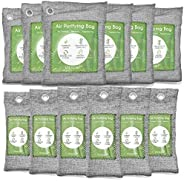 12 Pack Bamboo Charcoal Air Purifying Bag, Activated Charcoal Bags Odor Absorber, Moisture Absorber, Natural C