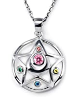 Cosplaywho Sailor Moon Transforming Crystal Star Pendant Necklace