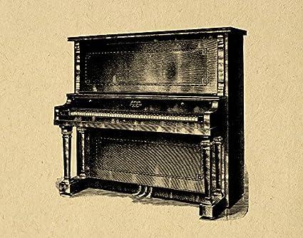 amazon com vintage parlor piano print music themed wall art home