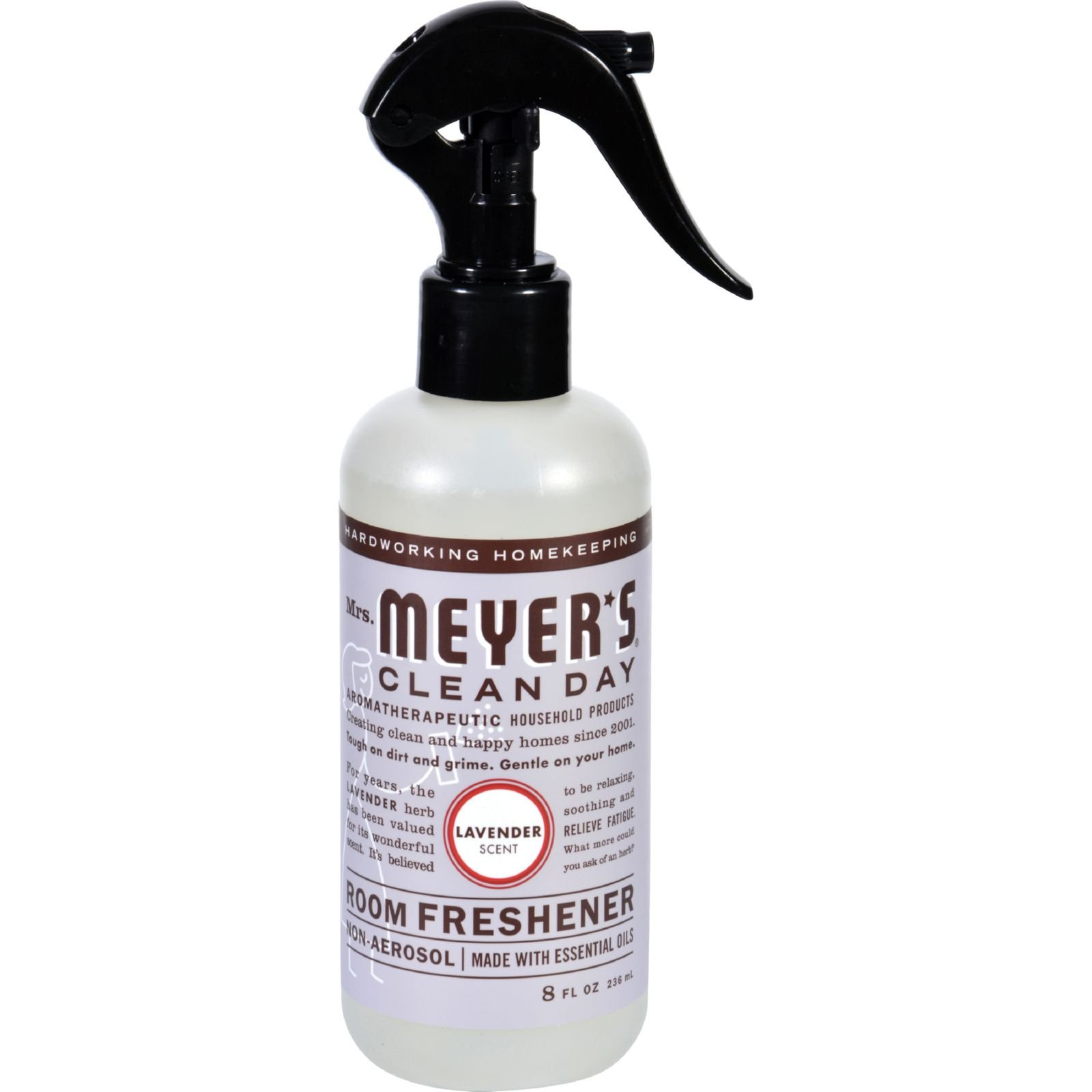 Mrs Meyers Clean Day Room Freshener - Lavender, 8 Fluid Ounce - 6 per case. by Mrs. Meyer's Clean Day (Image #1)