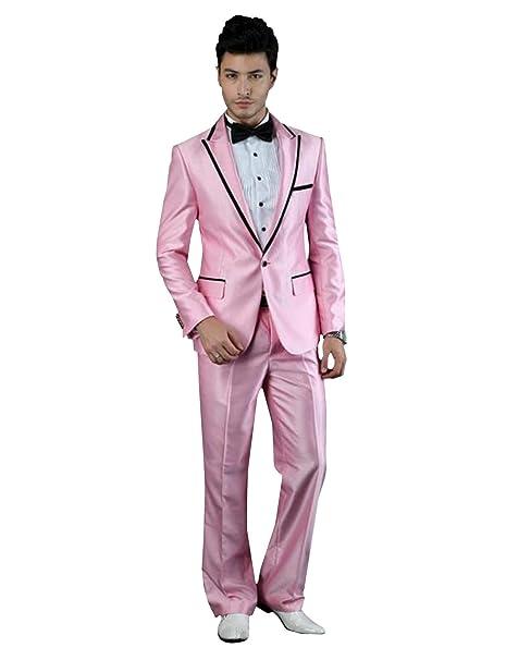 Amazon.com: P&G - Traje formal para hombre con solapa de un ...