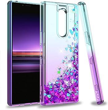 LeYi Funda Sony Xperia 1 Silicona Purpurina Carcasa Transparente ...