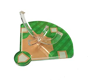 Hat Shark Acrylic Baseball Stand Laser Engraved OR 3D Color Printed Display Athletic Unique Diamond Field Trophy