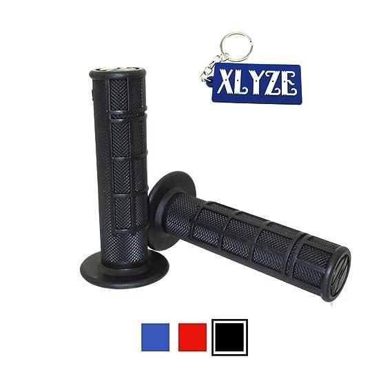 XLYZE mango de acelerador de goma suave Negro para Yamaha YZ250 YZ125 YZ250F YZ450F TTR WR suciedad Pit Motor Trail Bike de la motocicleta