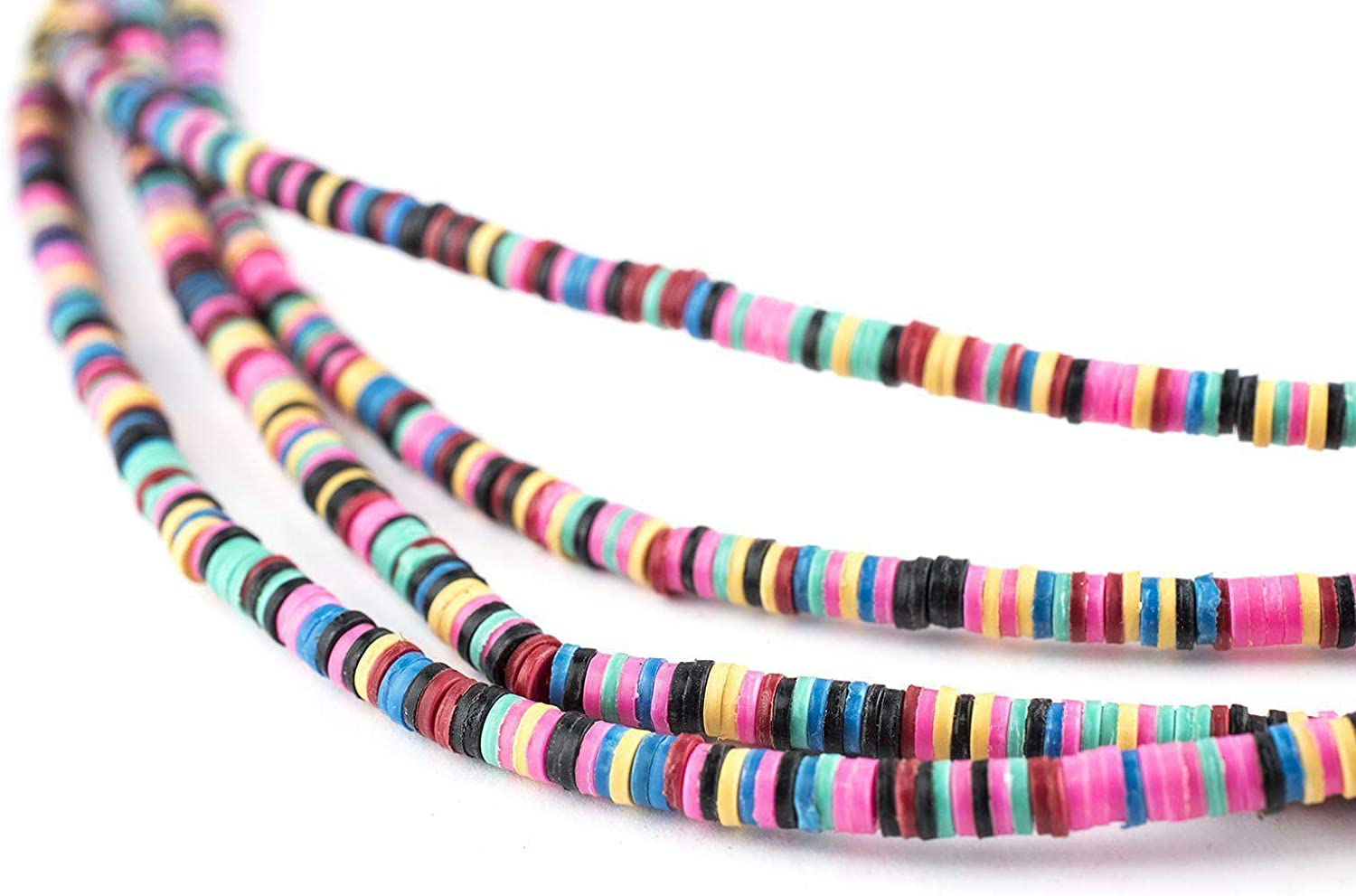 Sage 2str BEAUTIFUL Soft AFRICAN Colored VINYL Heishi beads 16 inch strand 2 Strand Per Order 6mm or 8mm