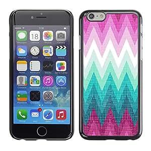 Cubierta de la caja de protección la piel dura para el Apple iPhone 6PLUS (5.5) - zig zag purple hills pattern
