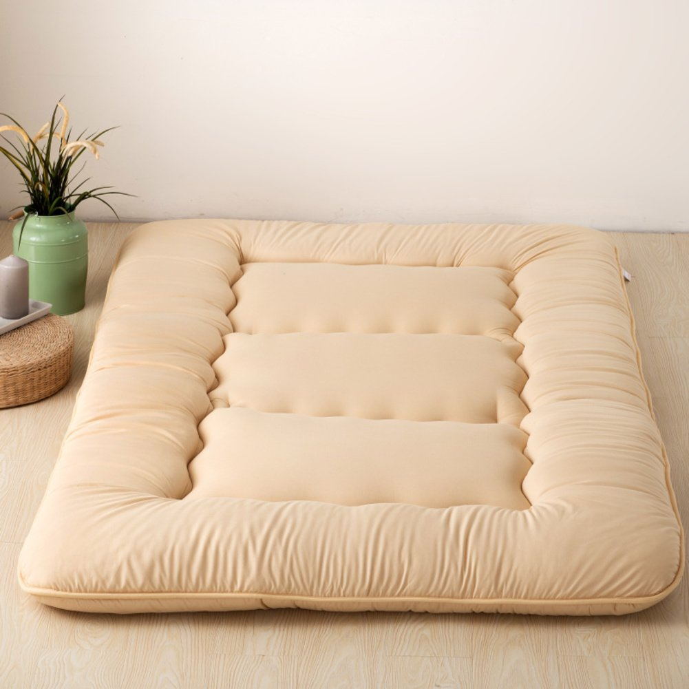 床を厚く マットレス パッド カバー 地面暖かいアンチス キッド畳ベッド トッパー マットレス 1.2 折りたたみ ツイン マットレス 1.5 m ベッド マットレス 1.8 メートル-O B07CQJSXHM