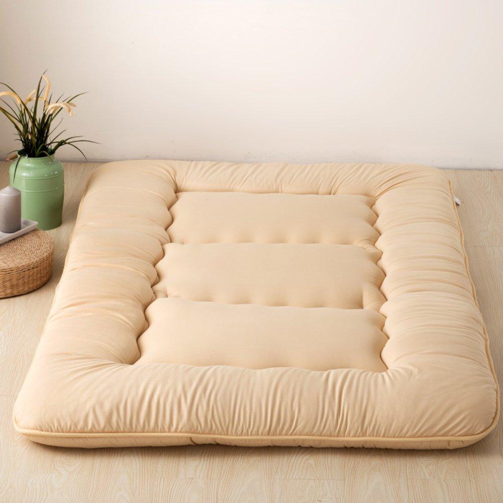 H 180x220cm(71x87inch) Futon Japanese Floor Tatami Mattress, Foldable Sleeping Mattress Topper Mat Pad Cushion mats for Yoga Meditaion Bay Window-A 120x200cm(47x79inch)
