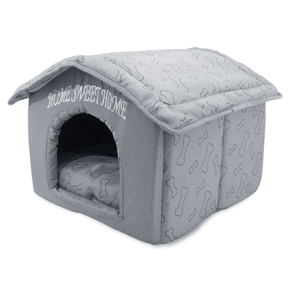 Best Pet Supplies, Inc., Inc., Inc., Portable Indoor Pet House - Perfect for Cats & Small Dogs, Easy To Assemble - Silver by Best Pet Supplies, Inc.