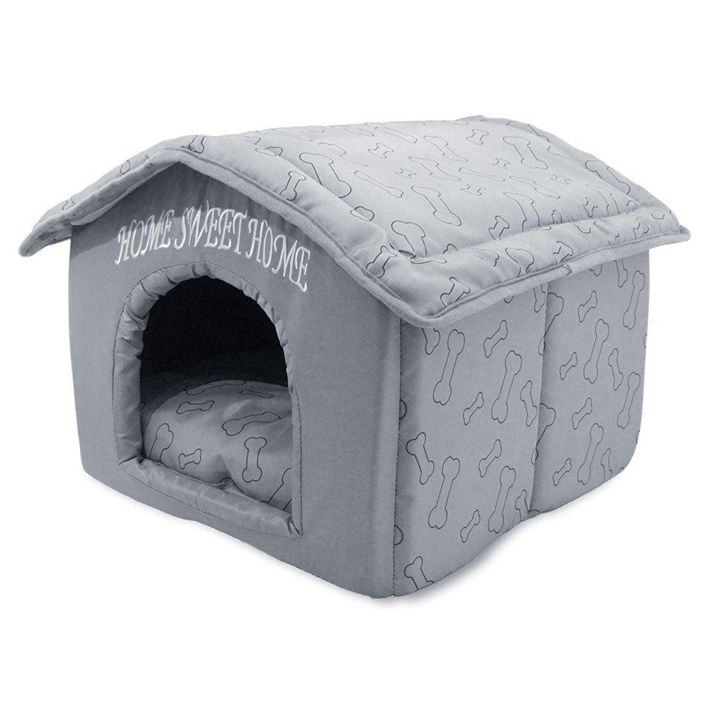 Portable Indoor Pet House, Best Supplies, Silver