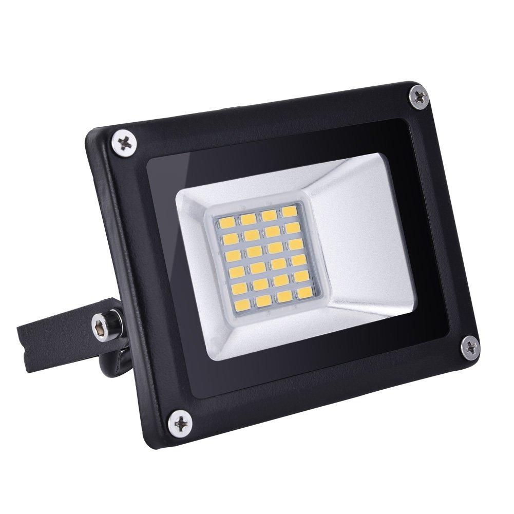 HimanJie 50W LED Fluter Außenstrahler Warmweiß extrem hell 5000 Lumen LED Scheinwerfer Außenleuchten AC 220V (50)