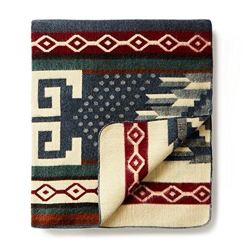"Price comparison product image Ecuadane Colorado Mountain Large Woven blanket made in Ecuador 82"" x 93"""