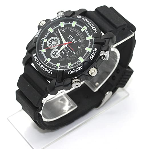 26 opinioni per FLY-SHOP-16GB HD Impermeabile Spy Watch Orologio Spia Videocamera Nascosta