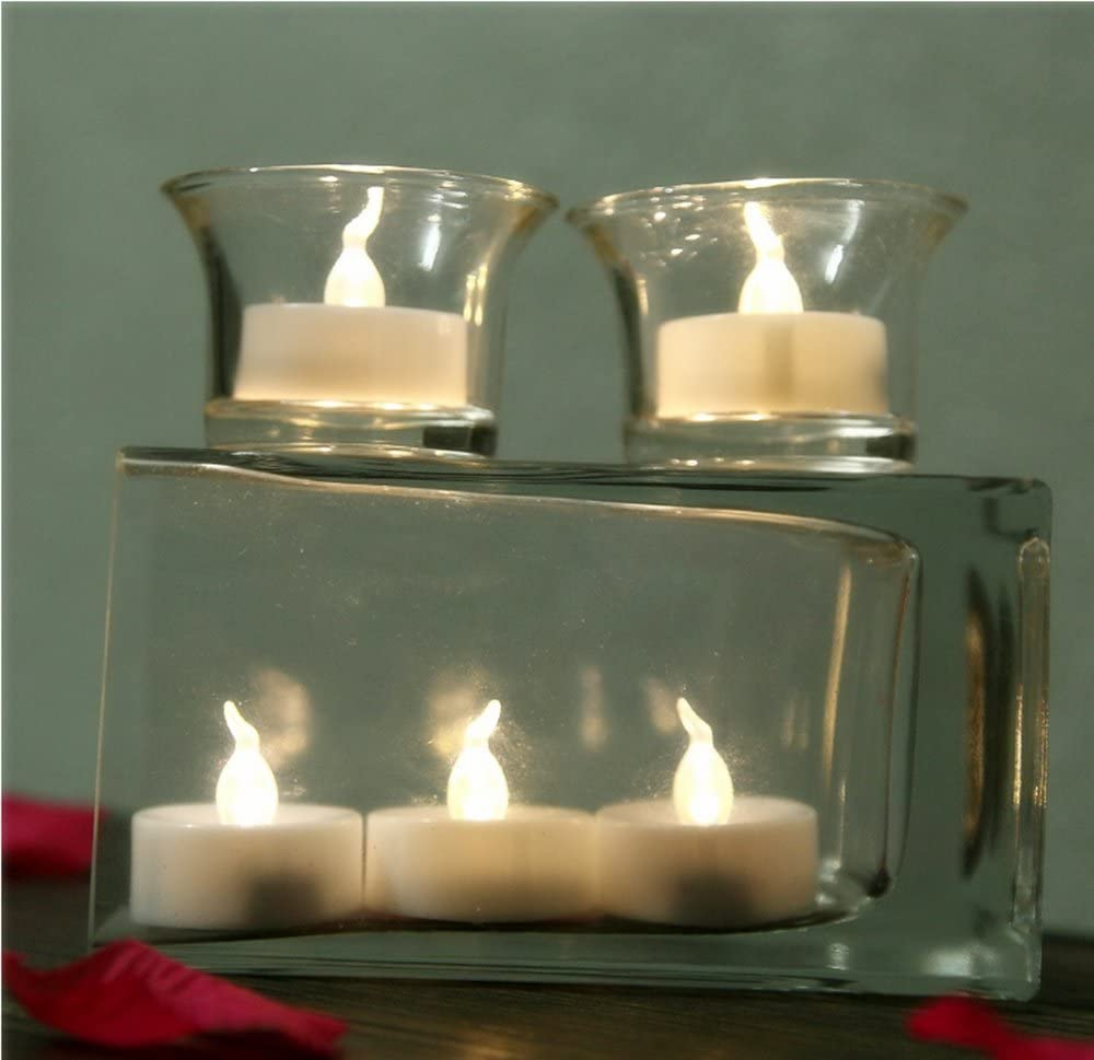 6 hrs On 18 hrs Off XIAMENJINBAISEN TLPTNBT24DS Warm White Flickering Battery Operated Tealight Candles Small Electric Fake Votive Candles Beichi 24 Pack LED Flameless Tea Lights with Timer