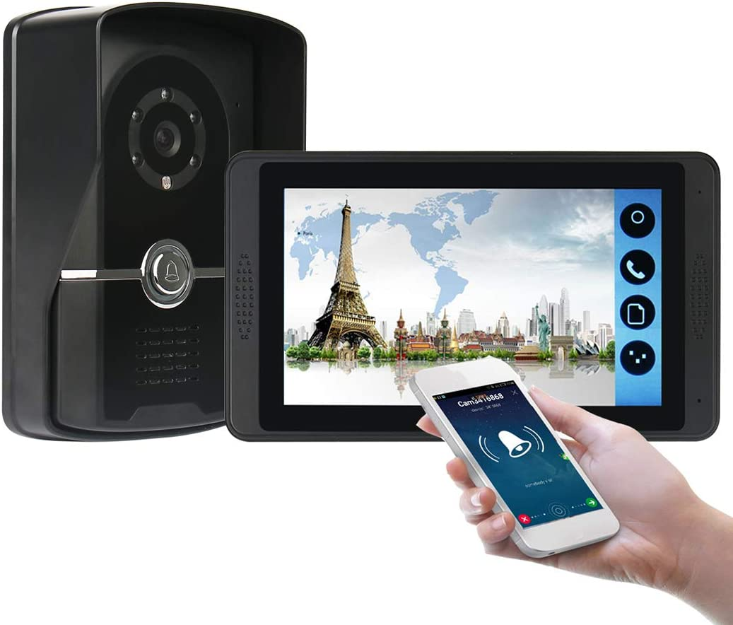7 Pulgadas Videoportero, Intercomunicador Timbre, 1 Monitor ...