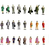 24 Piezas Modelos de Personas Modelos de Paisaje de Personas de Plástico 1:87