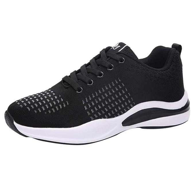 beautyjourney Zapatos de Running para Mujer Zapatillas de Deporte de Malla al Aire Libre Zapatos Casuales Zapatillas Ligeras Transpirables Zapatos Deportivos con Cordones Zapatos de Gimnasia: Amazon.es: Ropa y accesorios