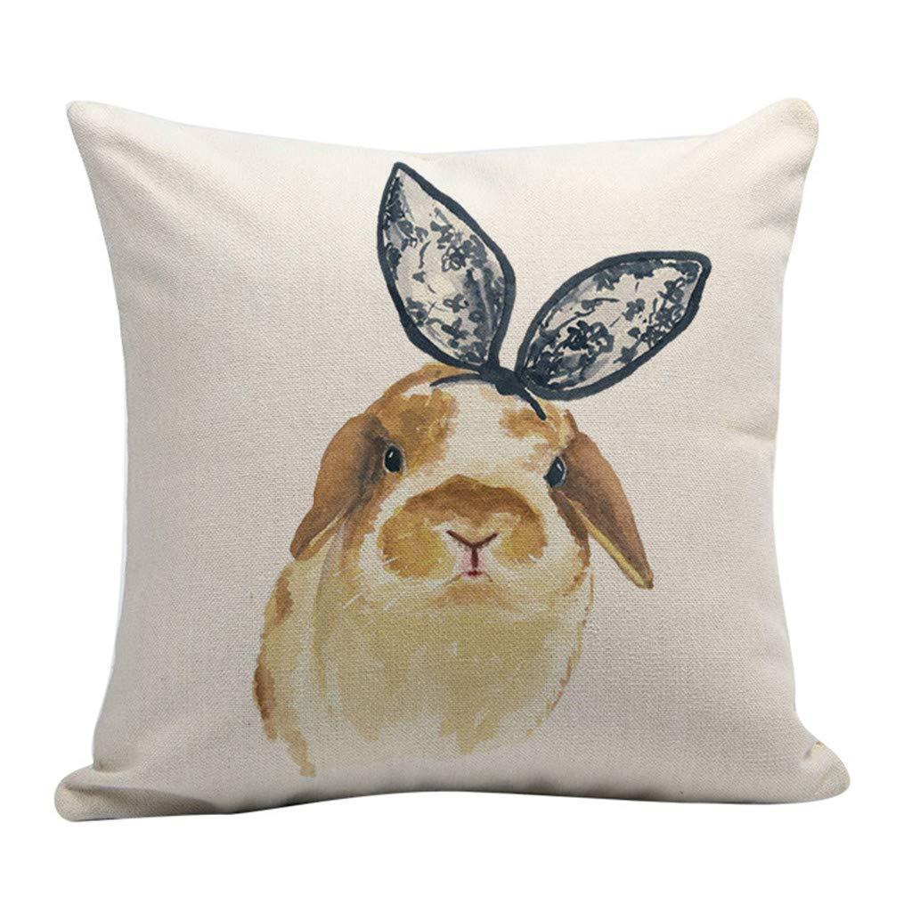 Amazon.com: Kauneus - Fundas de almohada de Pascua ...