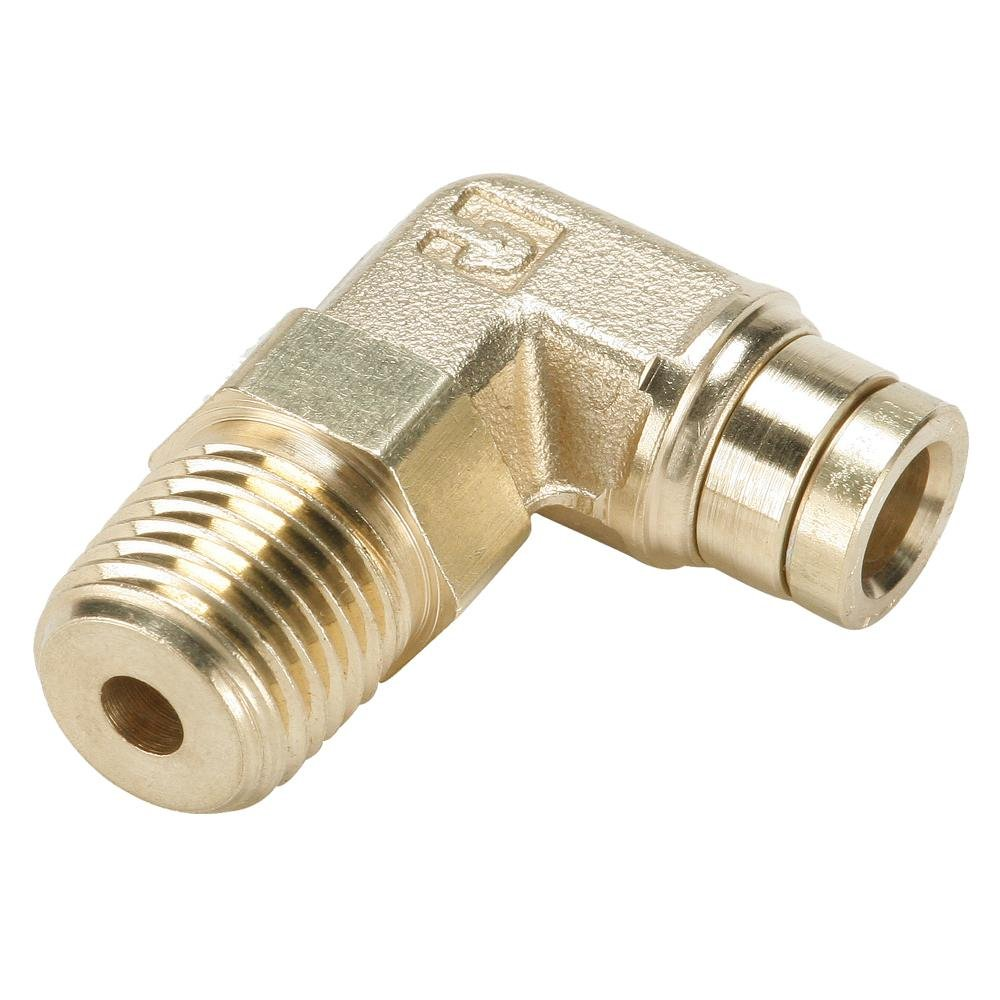 Pack of 10 Push-to-Connect and NPTF 90 Degree Positional Elbow Tube to Pipe 5//8 Pack of 10 Fitting 5//8 1//2 1//2 Parker 169PMTR-10-8-pk10 Push-to-Connect D.O.T Brass