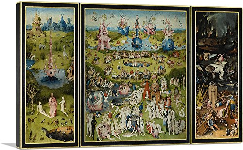 Bosch Garden - ARTCANVAS The Garden of Earthly Delights 1515 Canvas Art Print by Hieronymus Bosch- 40