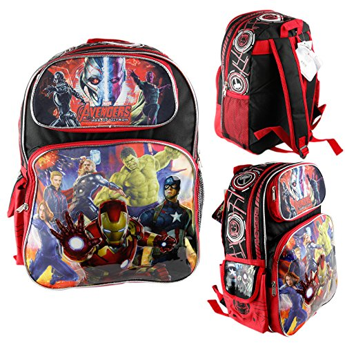 Brand New Marvel Avengers Age of Ultron Large School Backpack 16'' Boys Book Bag by PC