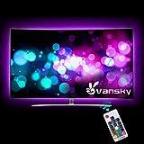 Led Strip Lights,Vansky Bias Lighting for 40-60 inch TV 6.6ft RGB USB Powered LED Light Strip with RF Remote,TV…