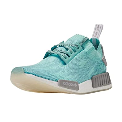 dbcb7adb25a adidas NMD R1 PK Mens in Energy Aqua Grey Cloud White